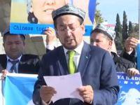 Antalya'da İşgalci Çin Protesto Edildi