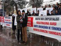 Erzurum A.Ü'de Suriye'deki Emperyalist Kuşatma Protesto Edildi