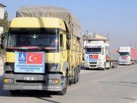 Bayırbucak Türkmenlerine 7 Araçlık Yardım Konvoyu
