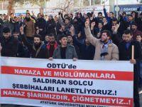 Erzurum'da Solcu Çeteler Protesto Edildi