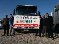 Muş'tan Suriye Halkına 1 Tır Un Yardımı