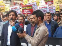 Rusya'nın Halep'teki Katliamları Diyarbakır'da Protesto Edildi