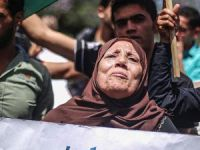 Gazze'de Refah Sınır Kapısı İçin Gösteri Düzenlendi