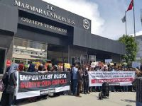 Marmara Üniversitesi'nde Halep'e Destek Eylemi