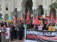 İstanbul Üniversitesi'nde Halep'e Destek Eylemi