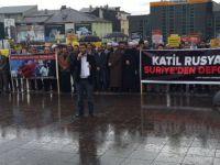 Erzurum'da Halep'e Destek Eylemi
