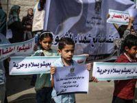 Gazzeli Çocuklar Siyonist Ablukaya Karşı Yürüdü