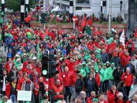 Belçika'da Bütçe Kesintilerine Karşı Protesto