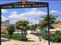 Suruç'ta Parka PKK'li Canlı Bombanın Adı Verildi