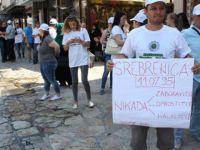 Üsküp'te Srebrenitsa Yürüyüşü