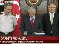 Başbakan Yıldırım: 161 Şehit; İki Bin 239 Gözaltı