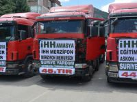 3 Tırlık Yardım Konvoyu Amasya'dan Suriye'ye Doğru Yola Çıktı