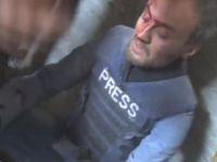 Al Jazeera Ekibi Halep'te Bombardımana Yakalandı
