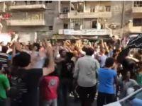 Direnişçiler Halep'te Kuşatma Altındaki Halkla Kucaklaştı