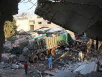 Suriye'de 4 Bölgeye 6 Ay Sonra İlk İnsani Yardım