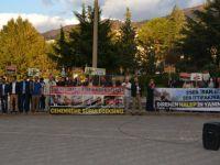 Halep Katliamı Amasya'da Protesto Edildi