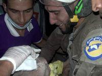 İdlib'de Bir Aylık Bebek Enkazdan Sağ Çıkarıldı!