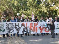 Halep'e Yönelik Katliamlar Kayseri'de Lanetlendi!