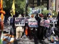 Sihler BM Önünde Hindistan'ı Protesto Etti