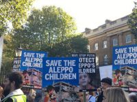 Halep Katliamı Londra'da Protesto Edildi