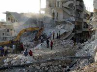 Suriye'de Rejim Uçaklarının Saldırısında 5 Kişi Hayatını Kaybetti