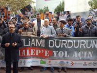 Halep'teki Katliamlar Pendik'te Protesto Edildi