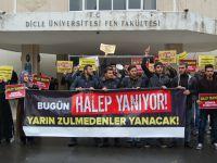Halep'teki Katliamlar Dicle Üniversitesi'nde Lanetlendi!