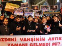 Taksim'de Bir Araya Gelen Alperen Ocakları Halep'teki Katliamları Protesto Etti