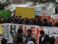 Halep ve Arakan'daki Katliamlar Erciyes Üniversitesinde Protesto Edildi