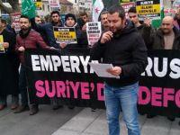 Halep'teki Kuşatma ve Katliamlar Trabzon'da Protesto Edildi