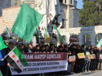 İmam Hatipli Gençler Halep'te Yaşanan Katliamları Protesto Etti