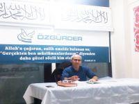 """Gaziosmanpaşa Özgür-Der'de """"Nebevi Sünnet ve Hadislerin Ehemmiyeti"""" Konuşuldu"""