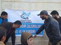 Batman Özgür-Der'den Azez'deki Suriye ve Iraklı Muhacirlere Yardım Eli