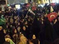 Halep'teki Katliamlar İran Konsolosluğu'nun Önünde Lanetlendi
