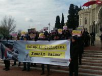 İstanbul Üniversiteli Müslümanlar Halep'teki Katliamları Lanetledi