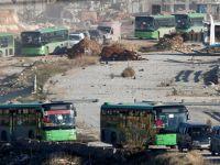 Halep'ten Tahliye Edilenlere Un Yardımı