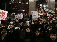 New York'ta Halep Protestosu: Rusya, İran Suriye'den Defol!