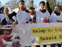Halep'teki Katliam ve Kuşatma Bursa'da Protesto Edildi