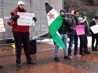 Almanya'da Suriye Protestosu: Esed, Yönetimi Terk Etmeli