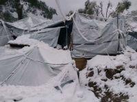 Yunanistan'ın Midilli Adası'nda Yazlık Çadırlarda Kış!