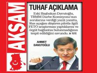 Akşam Gazetesinden Davutoğlu İçin Tuhaf Bir Haber!