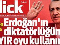 """İsviçre Gazetesi Manşetten """"Hayır"""" Çağrısı Yaptı!"""