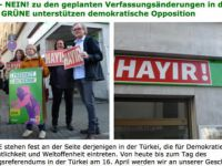 """Türkiye Sorunlarını Almanya'ya Taşımasın Diyen Yeşiller Partisi """"Hayır!"""" Dedi"""