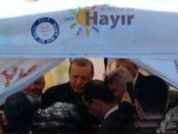 """Cumhurbaşkanı Erdoğan, İstanbul'da """"Hayır"""" Çadırına Girdi"""