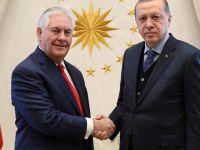 Cumhurbaşkanı Erdoğan ve Başbakan Yıldırım ABD Dışişleri Bakanı Tillerson'ı Kabul Etti