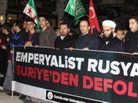 İdlip'teki Kimyasal Katliam Rusya Temsilciliği Önünde Protesto Edildi