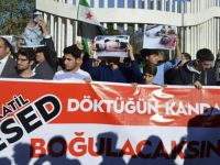 İdlib'deki Kimyasal Katliam Batman'da Protesto Edildi