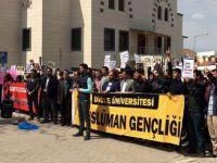İdlib'teki Katliam Dicle Üniversitesinde Telin Edildi