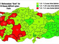 16 Nisan Referandumunda AK Parti'nin Oyları Nerede Arttı, Nerede Azaldı?