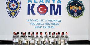 Alanya'da 14 Bin 500 Şişe Sahte İçki Ele Geçirildi!